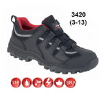 Toesavers Black Leather Safety Trainer (Sizes 3 - 13)